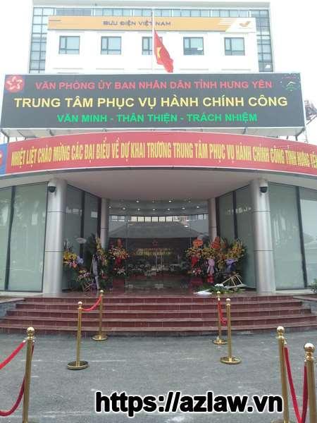 Trung tâm hành chính công Hưng Yên nơi thực hiện trả kết quả đăng ký kinh doanh