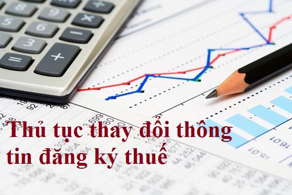 Thay đổi phương pháp tính thuế